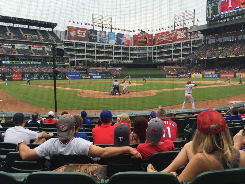 Seating view for Globe Life Park in Arlington Section 25 Row 5 Seat 17