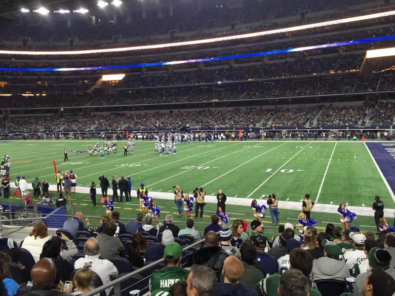 Seating view for AT&T Stadium Section 129 Row 11 Seat 15