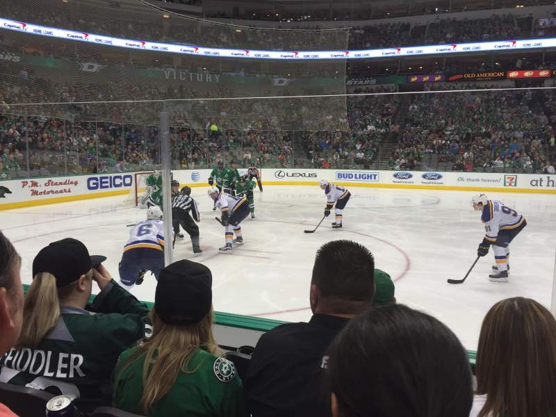 Seating view for American Airlines Center Section 120 Row D Seat 10
