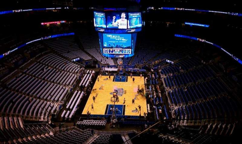 Seating view for Amway Center Section 217 Row 13 Seat 3