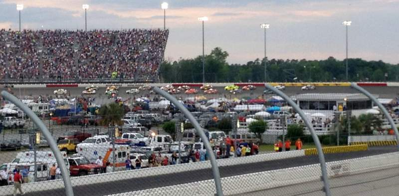 Seating view for Darlington Raceway Section Colvin K Row 15 Seat 26