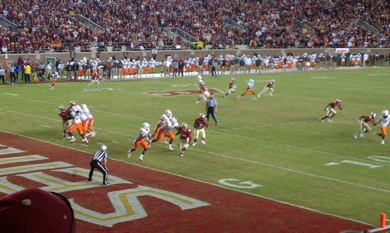 Bobby Bowden Field at Doak Campbell Stadium, section: 38, row: 20, seat: 1