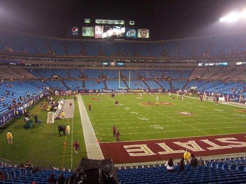 Seating view for Bank of America Stadium Section 233 Row 9 Seat 1