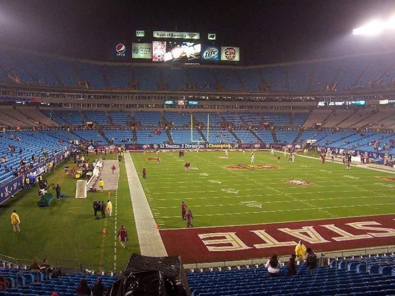 Bank of America Stadium, section: 233, row: 9, seat: 1