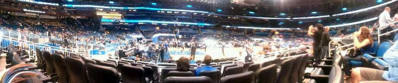 Seating view for Amway Center Section 116 Row 6 Seat 8