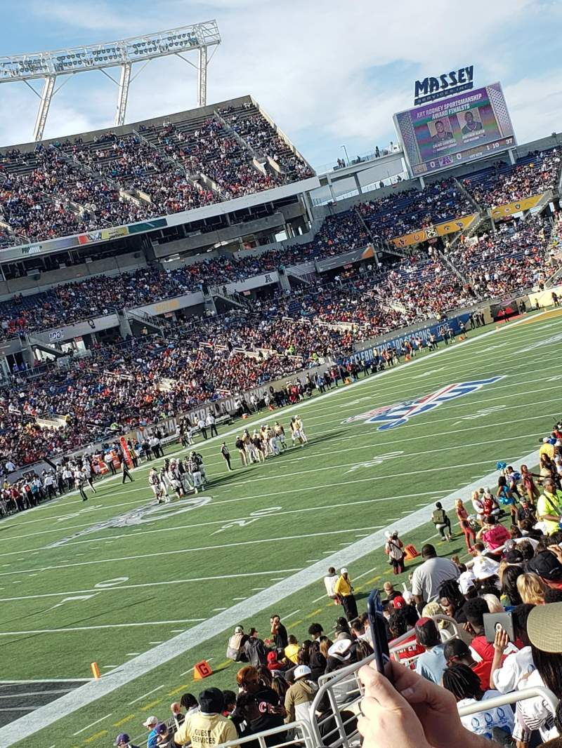 Seating view for Camping World Stadium Section 115 Row AA Seat 8