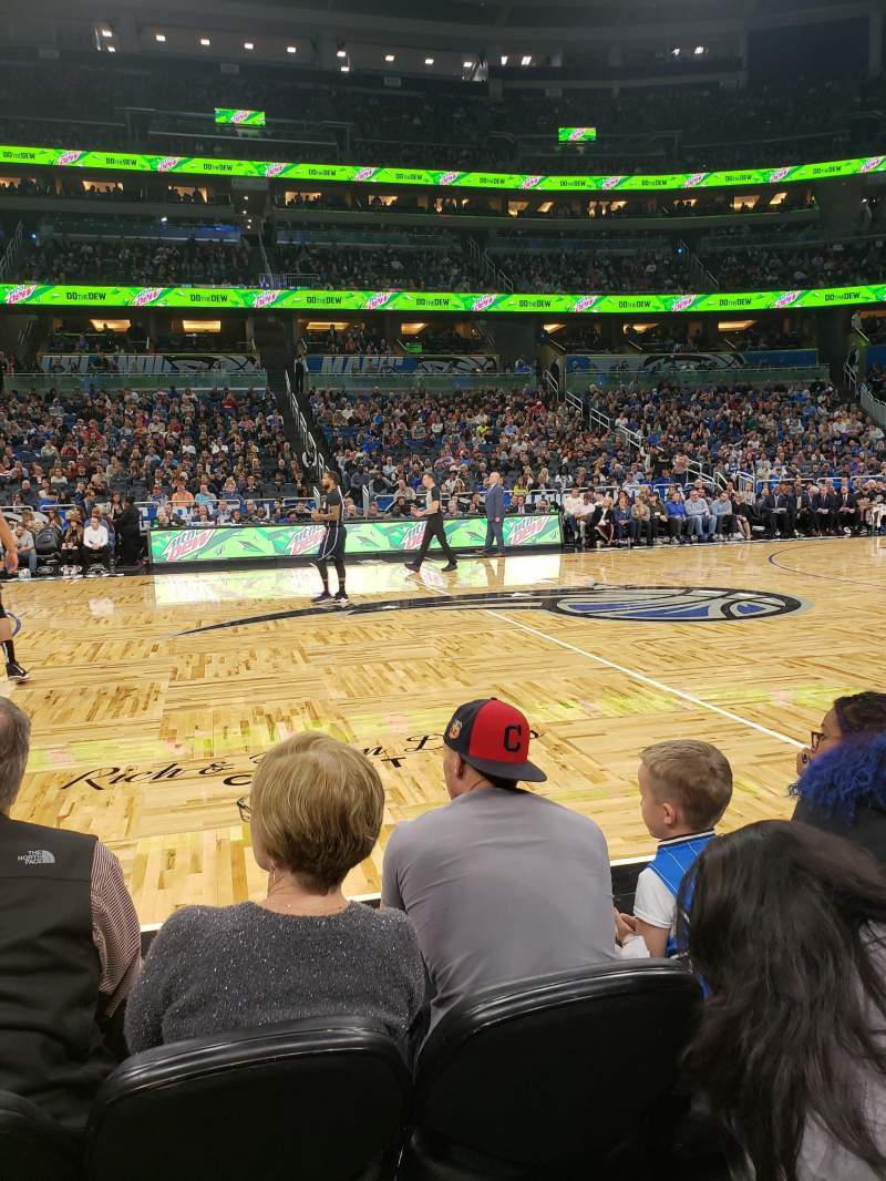 Seating view for Amway Center Section Courtside E Row 3 Seat 43