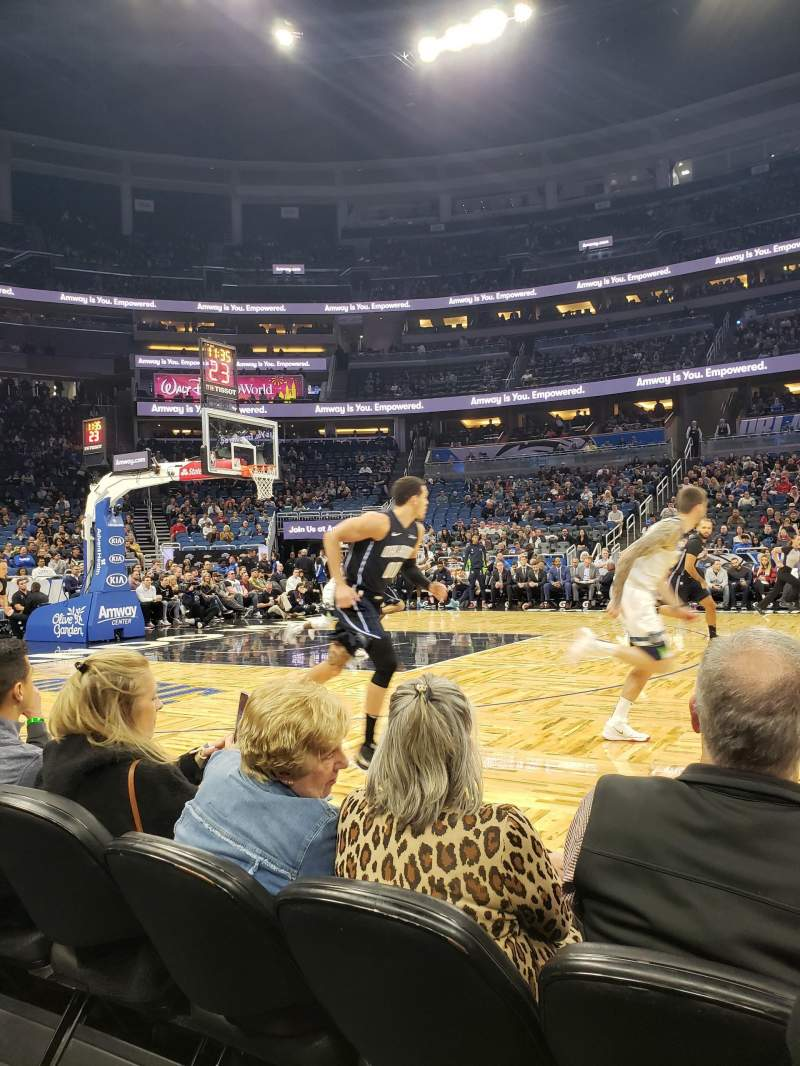 Seating view for Amway Center Section Courtside E Row 3 Seat 42
