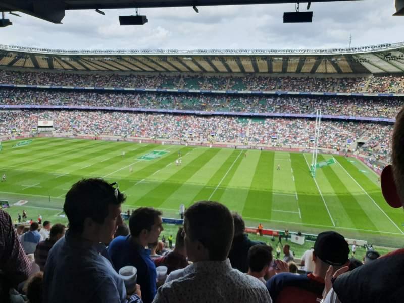 Seating view for Twickenham Stadium Section M4 Row 69 Seat 91