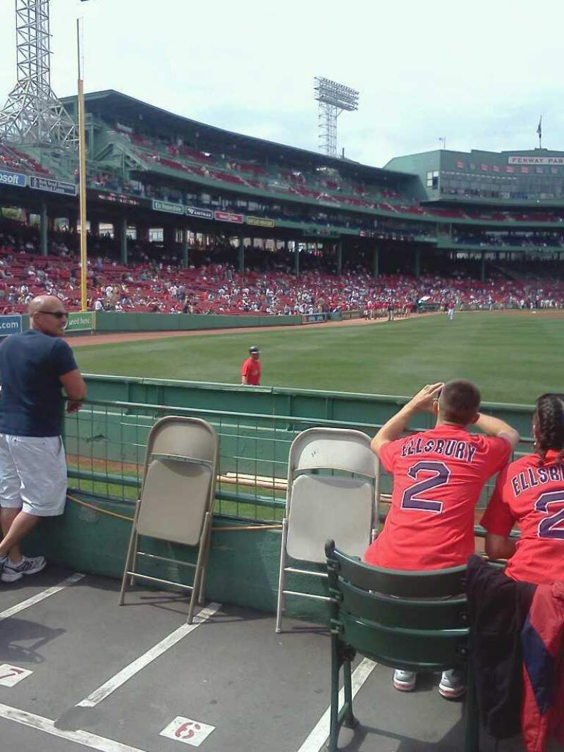 Seating view for Fenway Park Section Bleacher 42 Row 4 Seat 6