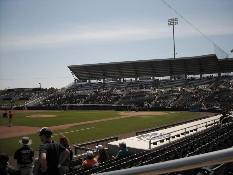 Seating view for Hammond Stadium Section 115 Row 7 Seat 1