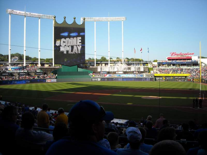 Seating view for Kauffman Stadium Section 224 Row EE Seat 7