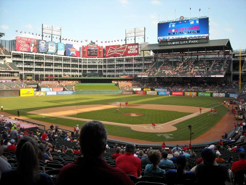 Seating view for Globe Life Park in Arlington Section 125 Row 33 Seat 3