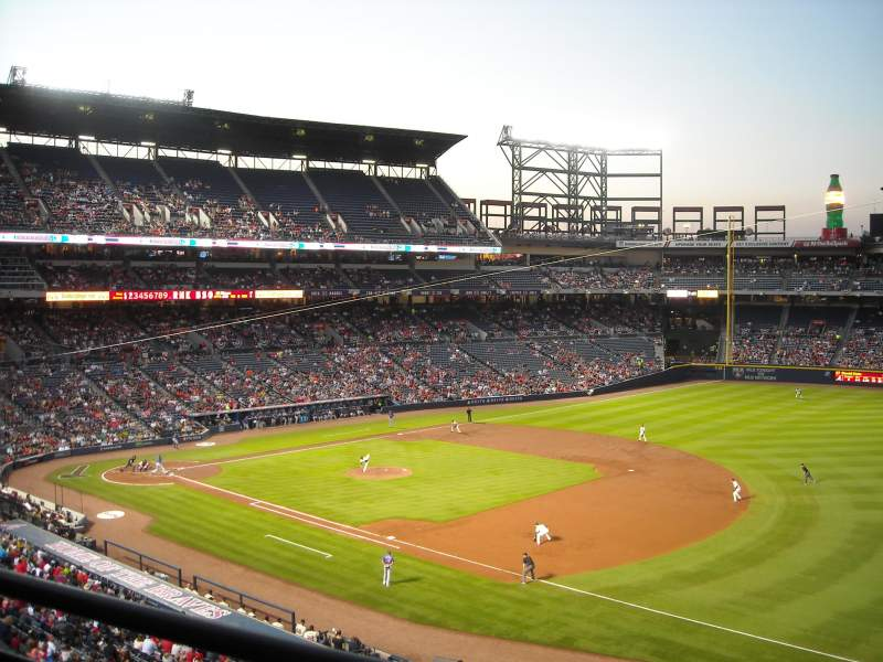 Seating view for Turner Field Section 319L Row 1 Seat 111