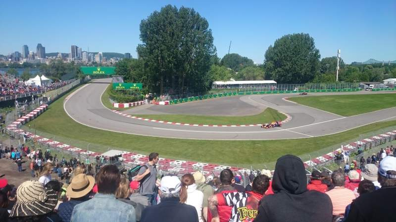 Seating view for Circuit Gilles Villeneuve Section Silver 12 Row O Seat 14