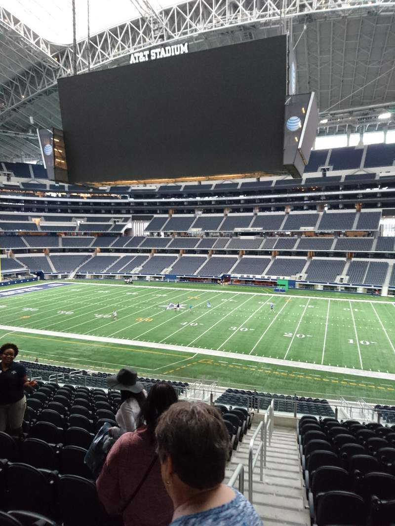 Seating view for AT&T Stadium Section C108 Row 15 Seat 21