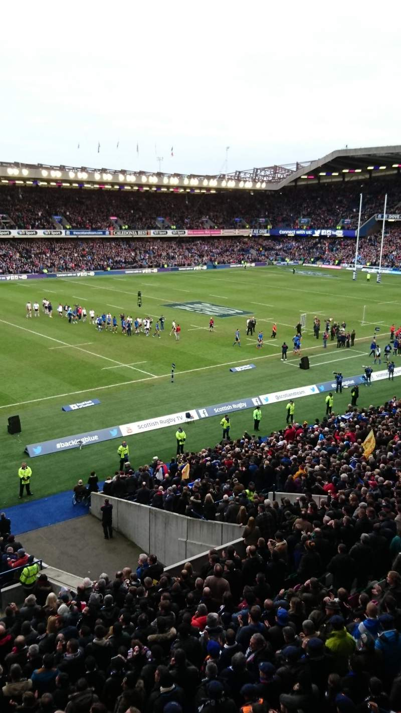 Seating view for Murrayfield Stadium Section West 36
