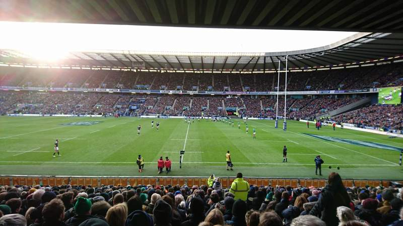 Seating view for Murrayfield Stadium Section E5