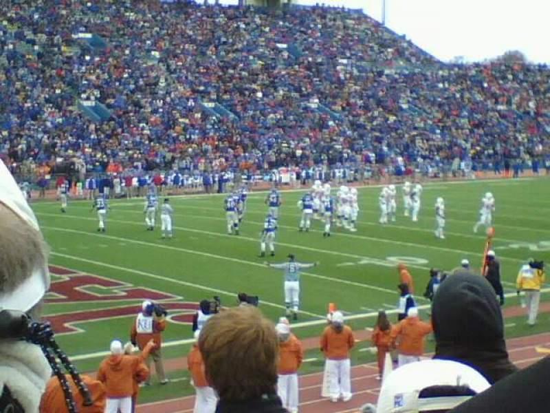 Seating view for University of Kansas Memorial Stadium