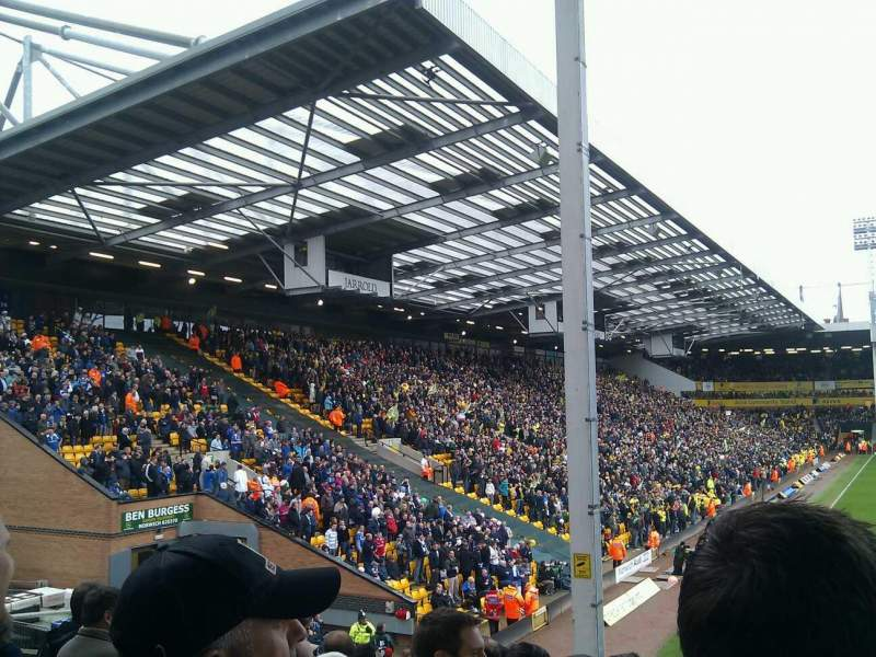 Seating view for Carrow Road Section Block E