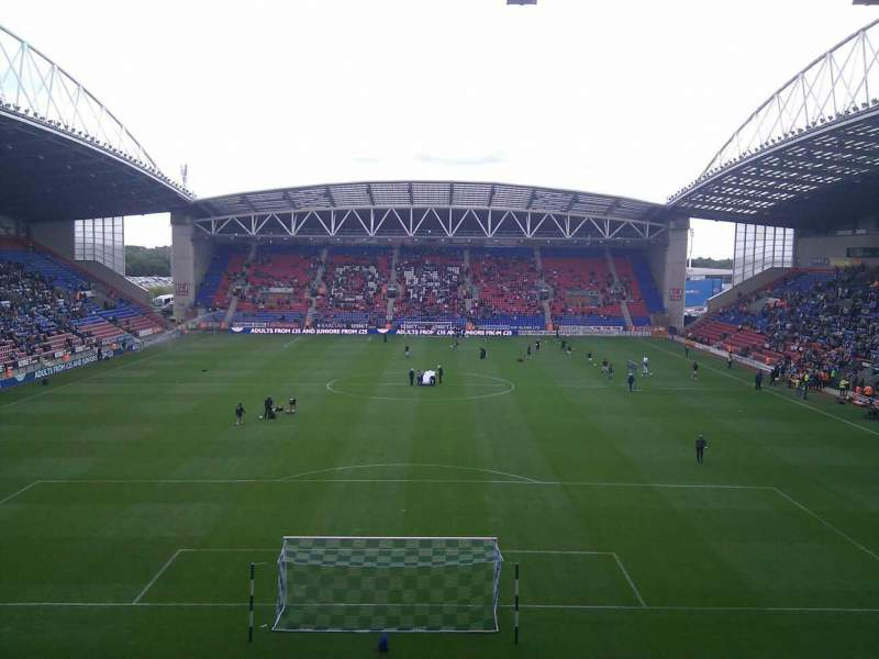 Seating view for DW Stadium Section North Stand Row CC