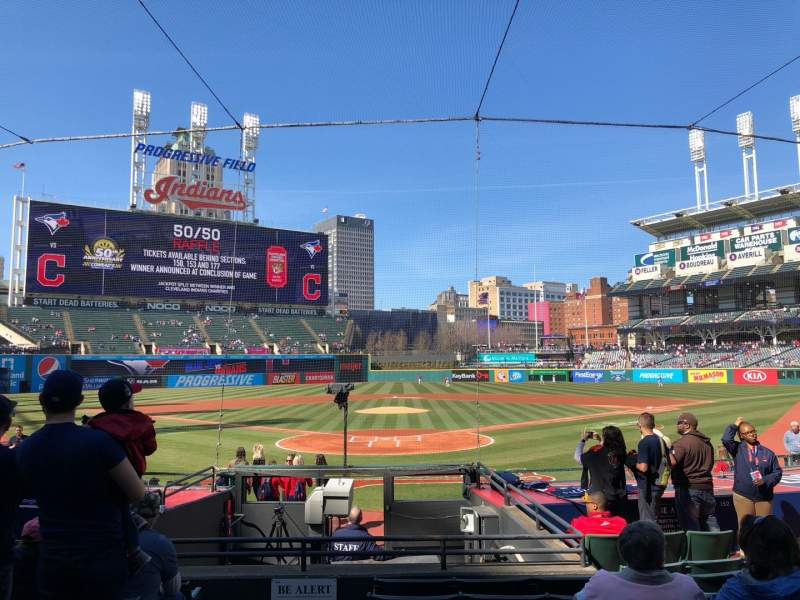 Seating view for Progressive Field Section 153 Row P Seat 9