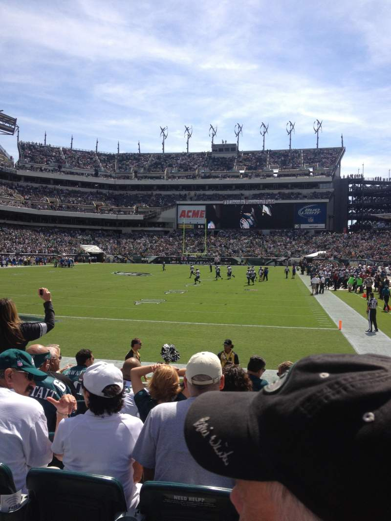Seating view for Lincoln Financial Field Section 131 Row 7 Seat 8