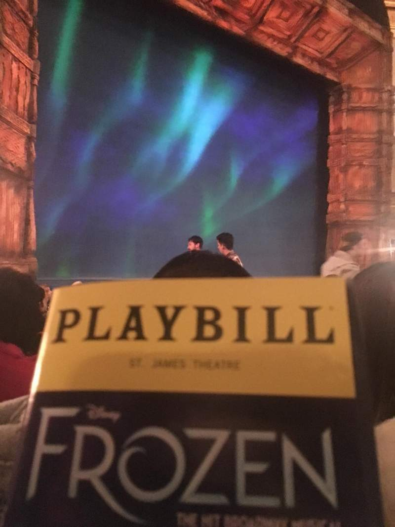 Seating view for St. James Theatre Section Orchestra L Row K Seat 15