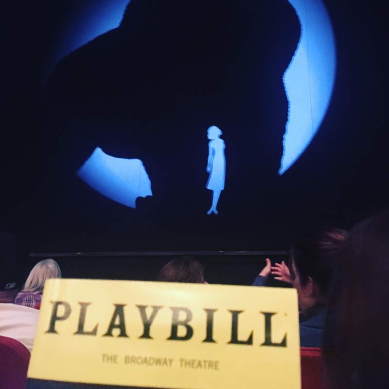 Seating view for Broadway Theatre - 53rd Street Section Orchestra C Row D Seat 104