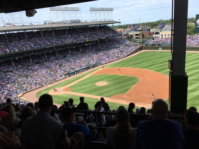 Seating view for Wrigley Field Section 426R Row 6 Seat 21