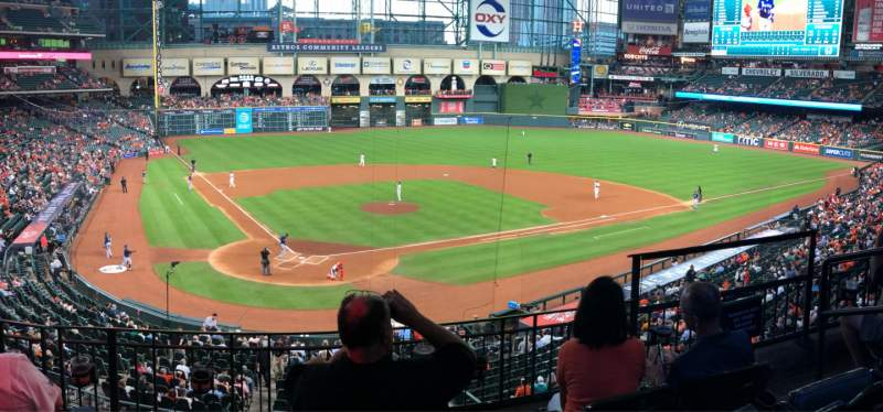 Seating view for Minute Maid Park Section 221 Row 4 Seat 11