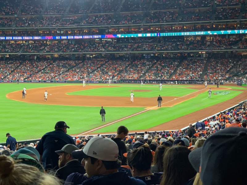 Seating view for Minute Maid Park Section 106 Row 38 Seat 5