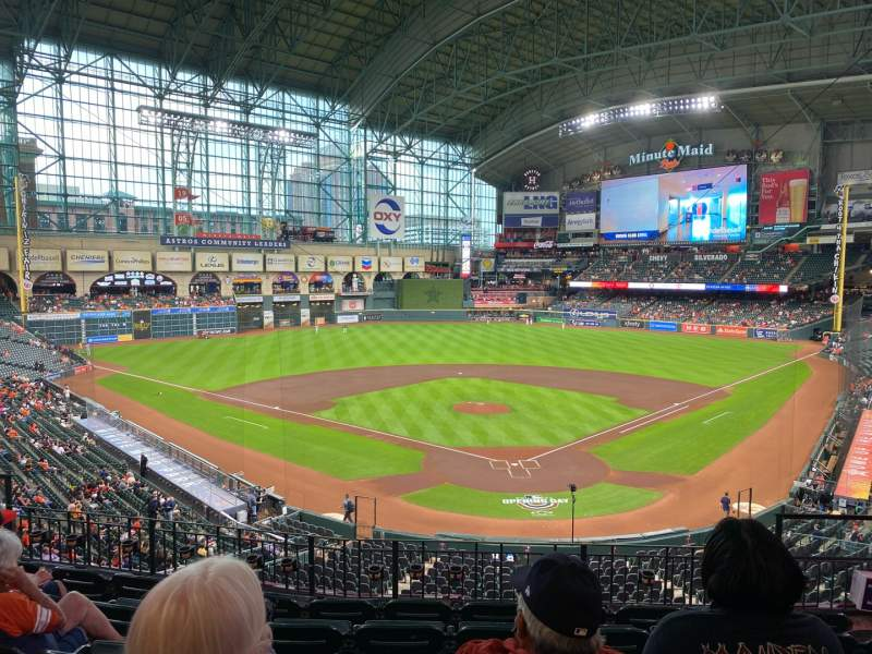 Seating view for Minute Maid Park Section 218 Row 6 Seat 11
