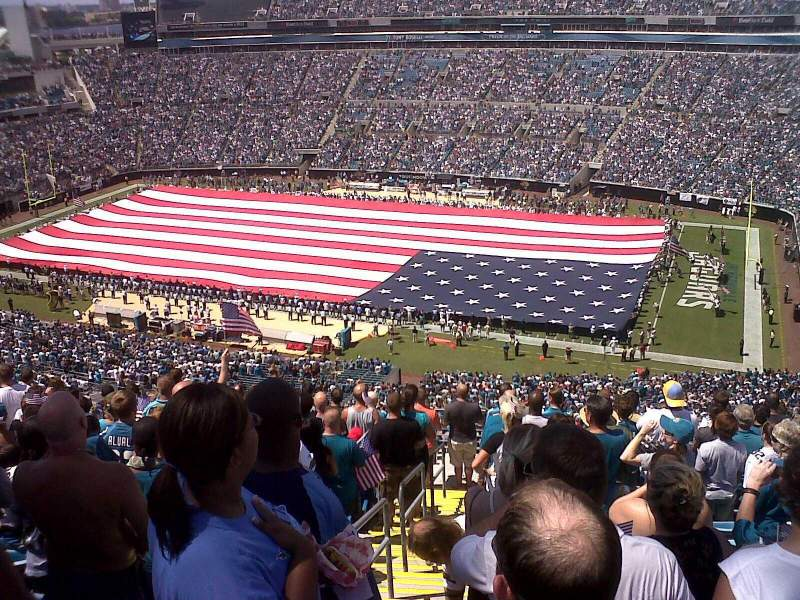 Seating view for Everbank Field Section 432 Row T Seat 26