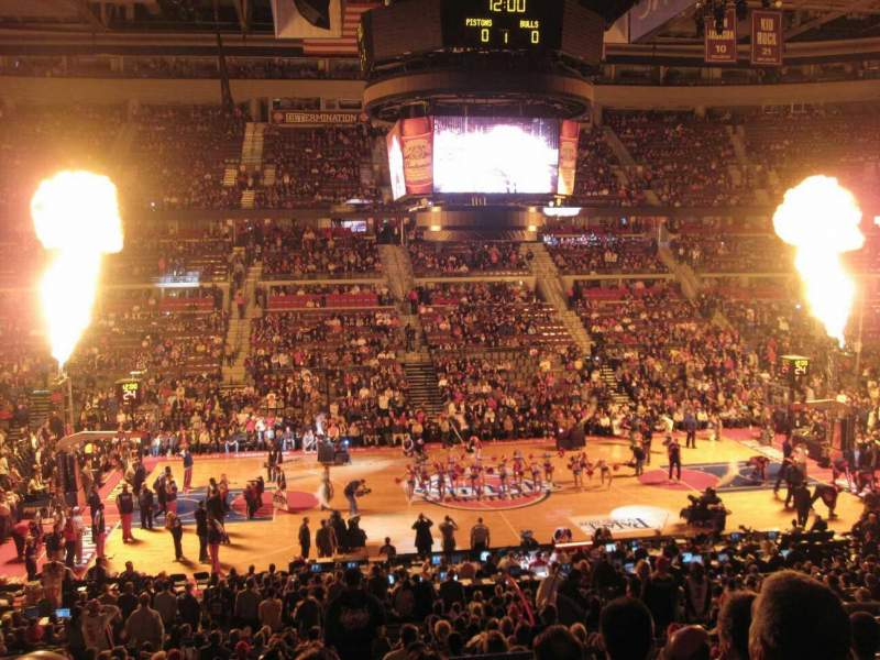 Seating view for The Palace of Auburn Hills Section 114 Row P Seat 10
