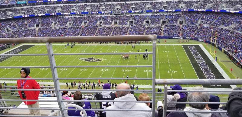 Seating view for M&T Bank Stadium Section 551 Row 5 Seat 15