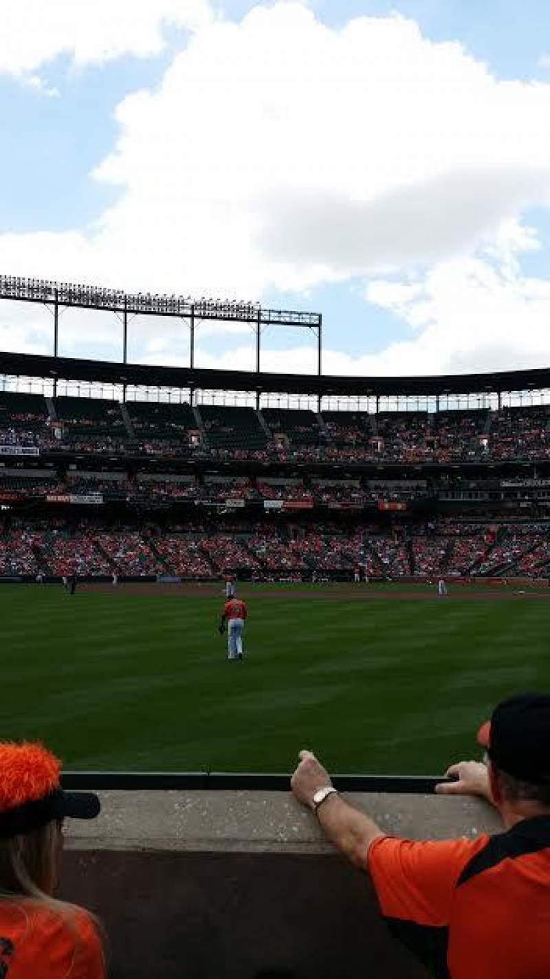 Seating view for Oriole Park at Camden Yards Section 82 Row 3 Seat 16