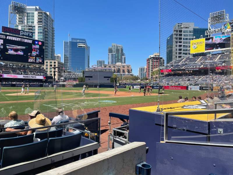 Seating view for PETCO Park Section 105 Row 9 Seat 4