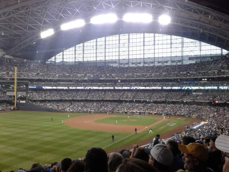 Seating view for Miller Park Section 231 Row 16 Seat 18