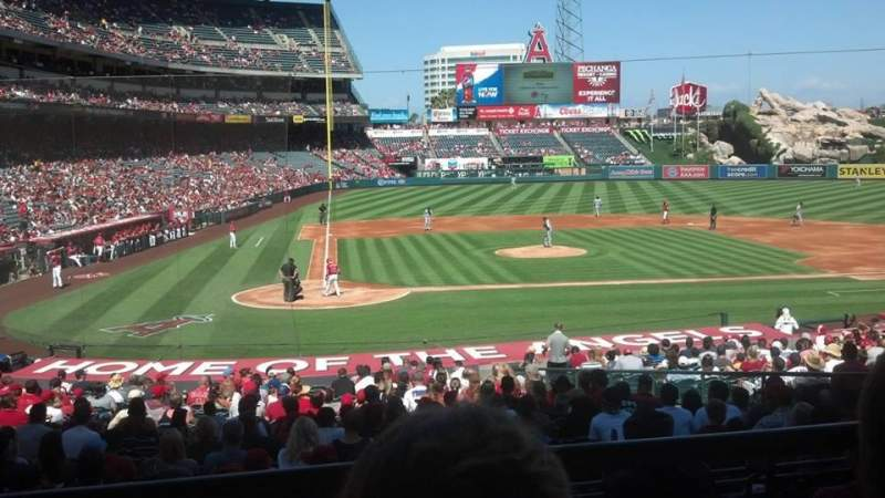 Seating view for Angel Stadium Section T221 Row B Seat 11
