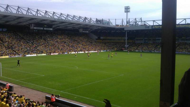 Seating view for Carrow Road Section Thorpe Corner (The Snakepit) Row N Seat 271