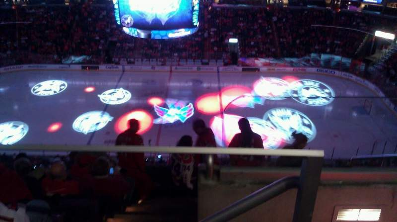Seating view for Verizon Center Section 417 Row J Seat 20