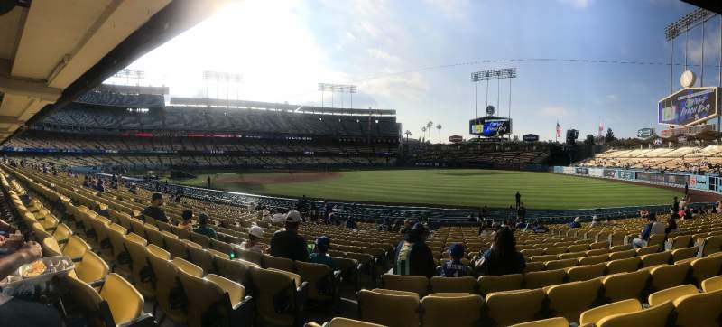 Seating view for Dodger Stadium Section 42FD Row U Seat 8