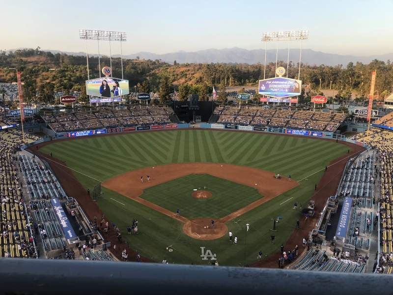Seating view for Dodger Stadium Section 1TD Row A Seat 17
