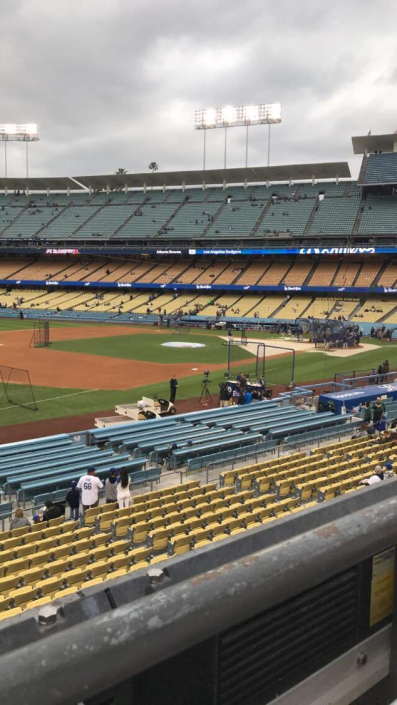 Seating view for Dodger Stadium Section 149LG Row A Seat 1