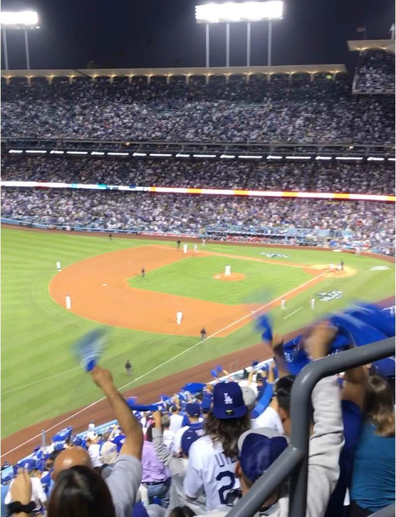 Seating view for Dodger Stadium Section 45RS Row AA Seat 3