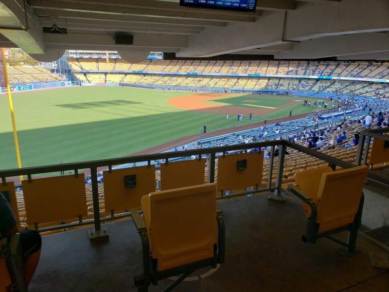 Seating view for Dodger Stadium Section 161LG Row W Seat 2