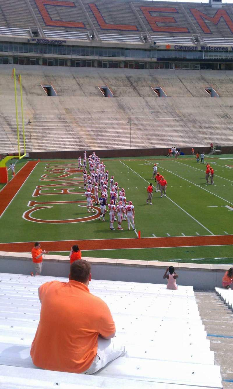 Seating view for Memorial Stadium, Clemson Section L Row W Seat 4