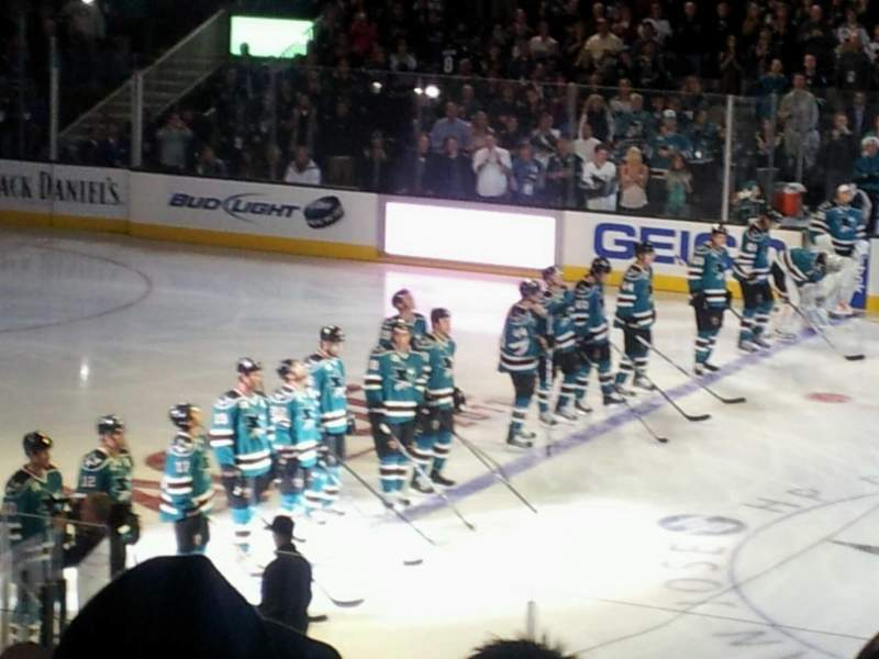 Seating view for SAP Center Section 115 Row 17 Seat 1