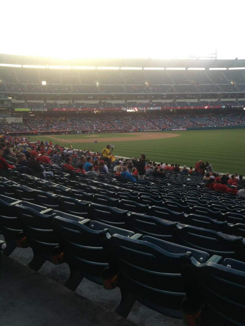 Seating view for Angel Stadium Section F133 Row X Seat 15